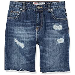 RED WAGON Boy's Denim Shorts, Blue, 6 Years