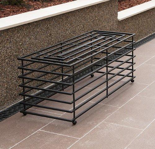 DanDiBo Bank Futura Modern Gartenbank 11670 Sitzbank 110 cm aus Metall Eisen Blumenbank - 4