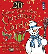 Colour Your Own Christmas Cards (with envelopes)