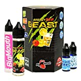 Big Mouth Beast Premium e-Liquid (Shake-and-Vape für e-Zigarette, 0,0 mg Nikotin) Energy Tea, 70 ml (50 ml Premiumliquid, 10 ml Cloud Boost und 10 ml Icy Boost)
