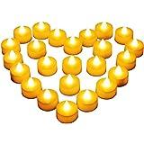 Diyife 24 Bougies à LED, Bougies Chauffe-Plat sans Flamme, Décoration de La Batterie pour Noël, Arbre de Noël, Pâques, Mariag