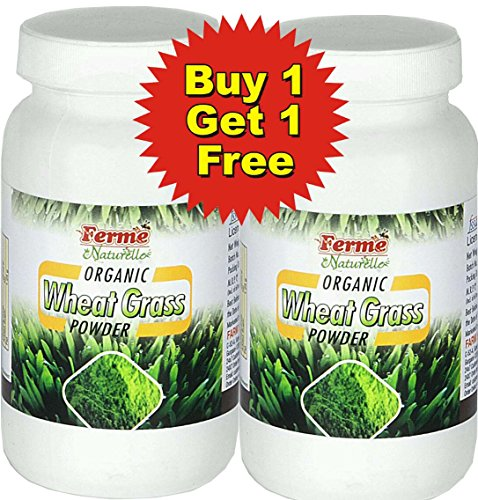 2 Wheatgrass powder-The Finest 200 Gms.(100 Gms x 2 Bottles) Organic Herbal Wheat Grass /Wheatgrass Powder. (Free Home Del-Save Rs. 60/-) MRP Rs. 1080 for 2 bottles. Save Rs. 600/- Rs. 480/- for two packs. (Total Saving Rs. 660/-)  available at amazon for Rs.480