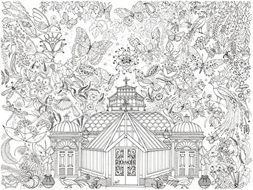 Really Giant Posters Garden Glass House Colouring In Poster - Giant Size: 100 x 75 cm