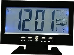 Kadio Digital Multi-Display Desk/Table Clock (with Alarm & Calendar) Black