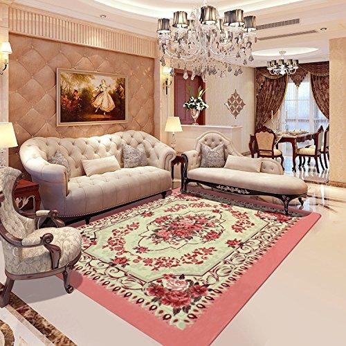 WXIN /Séjour Romantique Rose Tapis Chambre À Coucher Mariage/Table Basse/Tapis De Fleurs