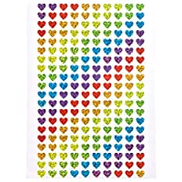 Heart Holographic Stickers (Pack of 400)