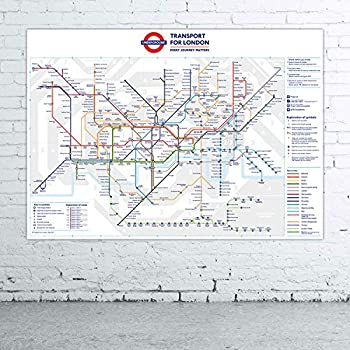 stikaco standard london underground tube station map poster june 2016 a1
