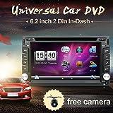 Prodotto Win CE 15,7cm double DIN in dash lettore DVD auto stereo touch screen con Bluetooth USB SD MP3FM AM radio per auto universale libero backup camera & GPS antenna