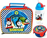 Thomas The Tank Engine 'High Velocity' Lunch Bag/Box, Flip 'n' Sip Bottle (352ml) and Snack Pot