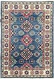 Nain Trading Kazak 117x79 Orientteppich Teppich Beige/Rosa Handgeknüpft Afghanistan