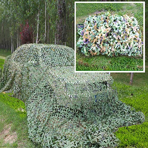 attiernetz Besonders Strapazierfähiges Camouflage-Tarnnetz, Tarnnetz Woodland Blinds Ideal Für Militär-Sonnenschutz-Camping-Jagd-Party-Dekor (Size : 6mX6m(20ftx20ft)) ()