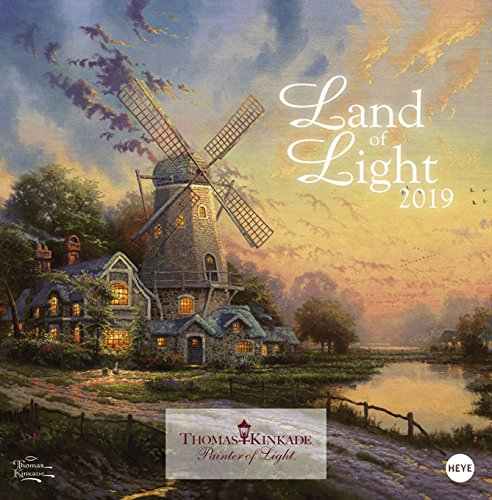 Land of Light Broschurkalender - Kalender 2019 - Heye-Verlag -Thomas Kinkade - Wandkalender mit Platz für Eintragungen - 29,5 cm x 30 cm (offen 29,5 cm x 60 cm) -