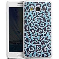 Samsung Galaxy A5 (2015) Silikon Hülle Case Schutzhülle Leo Muster Blau Barre Noire
