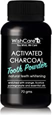 WishCare Activated Charcoal Tooth Powder | Natural Teeth Whitening | 70 Grams | Enamel Safe Teeth Whitener | Minty Fresh