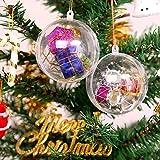 Wohlstand 20 Stück Acrylkugeln 8cm Weihnachtskugeln Transparente weihnachtskugeln als Saisonal Deko Hochzeitsdeko hängender Kugel weihnachtskugeln durchsichtig deko Kugeln christbaumkugeln