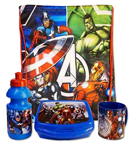 finest selection e12fc 132b6 Marvel Avengers - Set Merenda Scuola Gita 4 pz Sacca ...