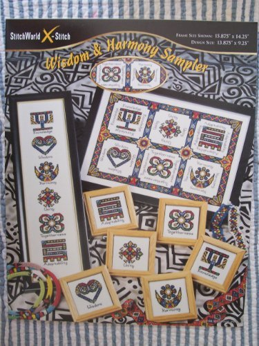 Wisdom & Harmony Sampler Counted Cross Stitch Chart by StitchWorld