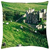 clifden castle ireland - Throw Pillow Cover Case (18