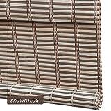 ZEMIN Bambusrollo Jalousette Venezianisch Schattierung Innen/Außen Installieren Anpassbar Antispion Abgeschnitten Handhebend, 3 Farben Verfügbar, Bambus (Farbe : A, Größe : 50x100CM)