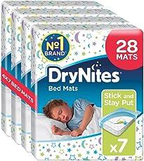 Huggies DryNites Bed Mats hochabsorbierende Betteinlagen, 4er Pack (4 x 7 Bettunterlagen)
