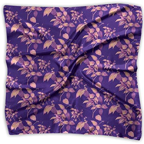 Engel Hobo Bag (Hoklcvd Womens Girl's Seamless Neon Patterns of Hawaiian Plants Print Square Kerchief Scarf Head Wrap Neck Satin Shawl)
