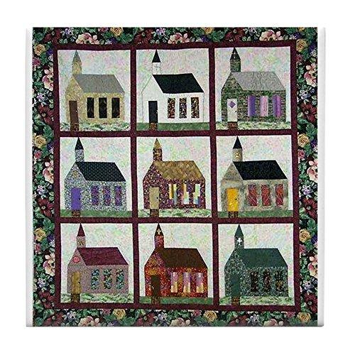 CafePress-Kirche Steppdecke-Quilt Craft Tile Coaster-Tile Untersetzer, Drink Untersetzer, Untersetzer, Klein -