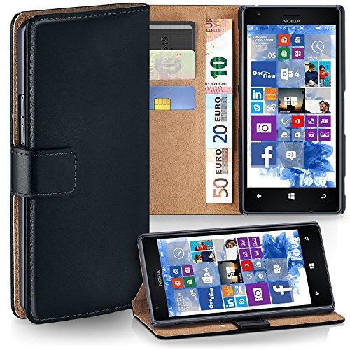 moex Nokia Lumia 1520 | Hülle Schwarz mit Karten-Fach 360° Book Klapp-Hülle Handytasche Kunst-Leder Handyhülle für Nokia Lumia 1520 Case Flip Cover Schutzhülle Tasche