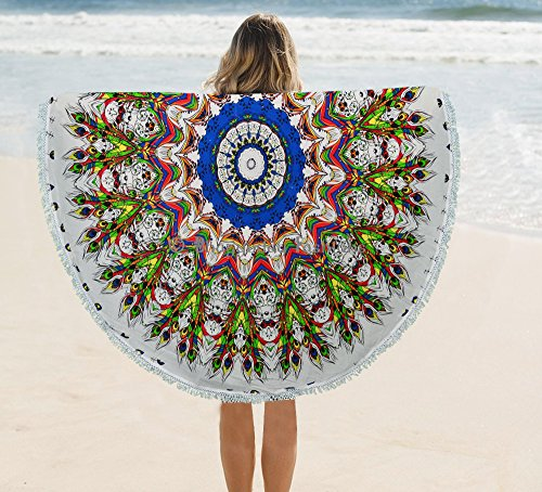 psychdlique-mandala-indien-plume-de-paon-tapisserie-murale-rond-suspendre-roundies-plage-serviettes-