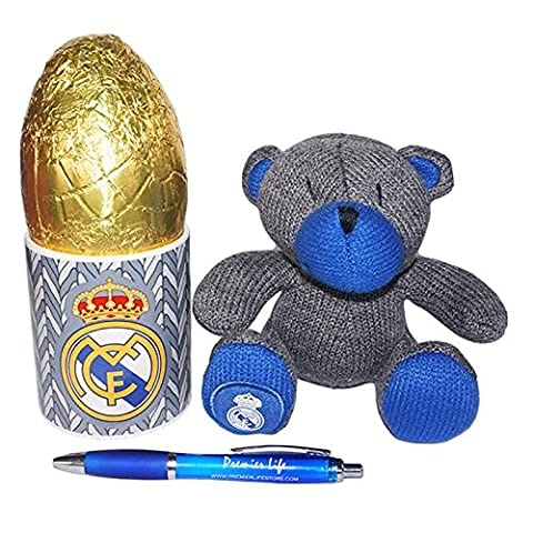 Real Madrid FC Mug and Teddy Bear set with Easter