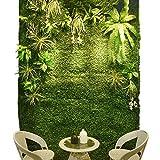 Yw-Grass ball Muro di Recinzione Verde Artificiale Recinzione della Parete Protezione della siepe Copertura vegetale 1m × 1m,A