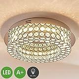 Lampenwelt LED Deckenleuchte 'Filomena' (Modern) in Chrom aus Metall u.a. für Schlafzimmer (1 flammig, A+, inkl. Leuchtmittel) - Lampe, LED-Deckenlampe, Deckenlampe
