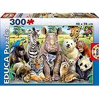 Educa Borrás-Foto de Clase Animales Salvajes Puzzles, Multicolor, 300 Piezas 15908