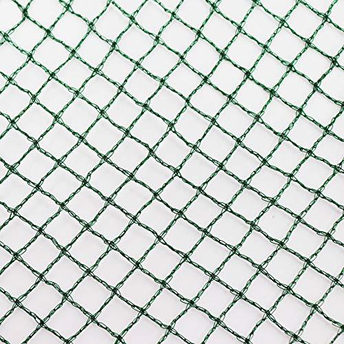 Aquagart® Teichnetz, 10m x 10m, dunkelgrün, besonders engmaschig: Maschenweite 12mm x 12mm, Laubnetz, Teichabdecknetz, Vogelabwehrnetz, Reihernetz robust