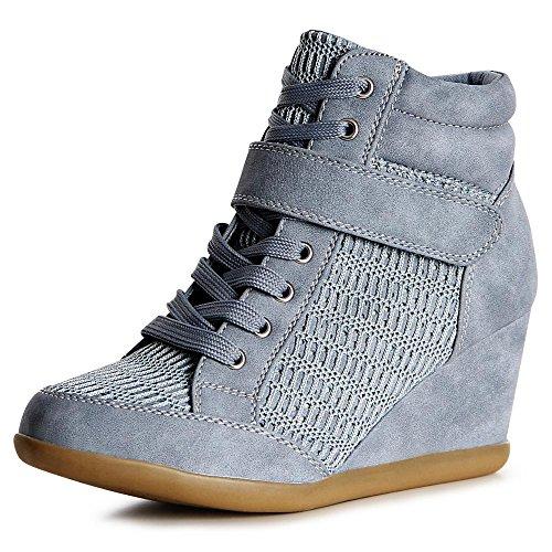 topschuhe24 , Baskets pour femme Bleu