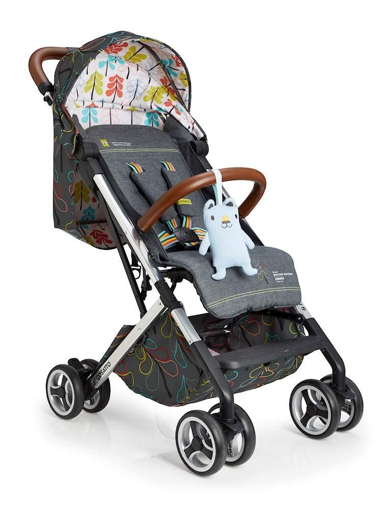 Cosatto Woosh XL Pushchair, Suitable from Birth to 25 kg, Nordik Cosatto Compact from-birth pushchair. carries up to 25kg child, so you can use it for longer. Hands full? it's lightweight with one-hand fold into compact bundle. easy to store. It can even carry dock 0+ car seat (sold sep) just pop onto the adaptors (sold sep). 1