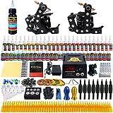 Solong Tattoo equipos del Tatuaje Completo 2 Maquina de Tatuaje 54 Tintas Fuente de Alimentacion Pedal Agujas Grips Consejos TK256