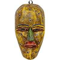 APKAMART Hand Crafted Wall Hanging Wooden Tribal Mask - 9 Inch - Handcrafted Decorative Mask for Wall Decor, Room Decor and Gifts