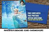 Personalisierte Geburtstags Party Einladungen Frozen Princess Elsa 8dick Karten (A6) + Umschläge