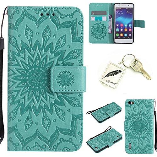 Silikonsoftshell PU Hülle für Huawei Honor 6 (5 Zoll)Tasche Schutz Hülle Case Cover Etui Strass Schutz schutzhülle Bumper Schale Silicone case(+Exquisite key chain X1)#KD (5)
