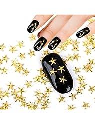 Meicailin 1000 x 3D Strass Glitter Étoile de mer Alliage Nail Art Tip Autocollant Bijoux Nail Art 3D Décoré Ongle