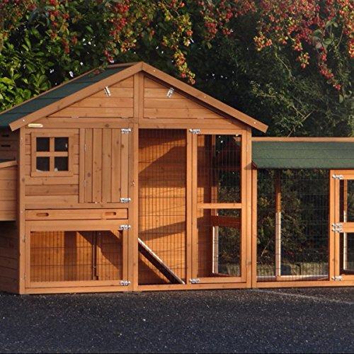 Animalhouseshop.de Hühnerstall Holiday Medium mit Zusätzlichem Auslauf 309x80x151cm
