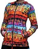 Search : Shopoholic Fashion Women Owl Print Pixie Hooded Rainbow Striped Hippy Jacket