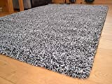 Soft Touch Shaggy Silver Mix Two Tone Thick Luxurious Soft 5cm Dense Pile Rug. Available in 9 Sizes (80cm x 150cm)