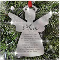 PERSONALISED Remembrance Christmas Tree Decoration - Mirror Acrylic Bauble Ornament - Loved Ones Keepsake Gift