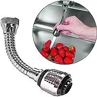 Quanjucheer - Douchette flexible 360degrés en acier inoxydable, extension de robinet, Silver, 15cm