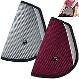 Adattatore per sedili per bambini Set di 2, maxin Cinture di sicurezza per cinture di sicurezza per bambini - (rosso e grigio)