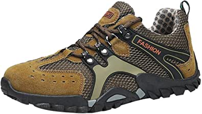 Oyedens Scarpe Trekking Uomo Estive Scarpe da Ginnastica Uomo Antiscivolo Scarpe Uomo Sportive Sneaker Traspirante Outdoor Non-Slip Mesh Hiking Shoes Scarpe da Corsa Uomo Sneaker 2019 Nuovo Moda