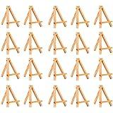 20 Pezzi Cavalletto Mini di Legno per Display,Cornice per Foto Mini Cavalletto Piccola Cornice di Legno Adatta per La Decoraz
