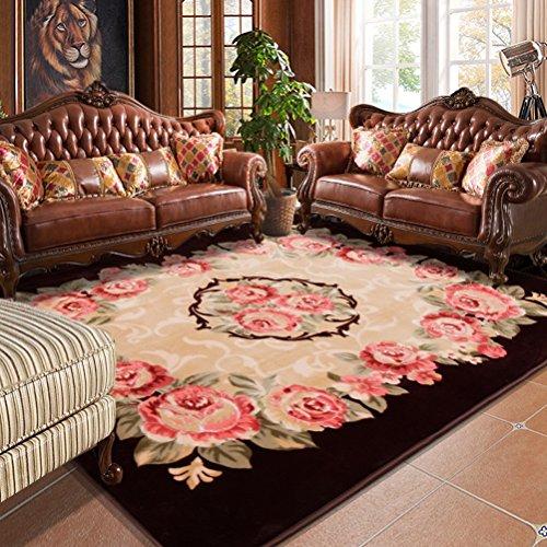 Wohnzimmer Sofa (LUYIASI- Europäischen Minimalistischen Modernen Schlafzimmer Voller Teppich Wohnzimmer Couchtisch Sofa Großen Teppich Nachttischdecke Non-Slip Mat ( Farbe : A , größe : 200x240cm ))