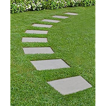 Set Of 2 Round Pebble Stepping Stones Circular Garden